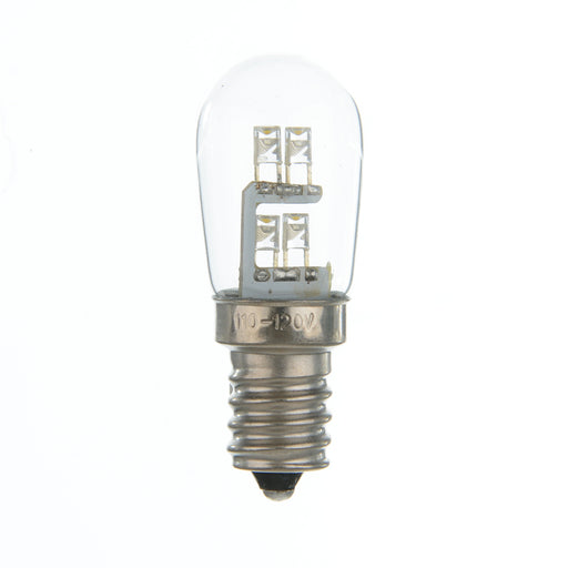 Standard 1 Watt S6 LED - Candelabra Base White 360 Degree Light Output - WILL OPERATE On AC Voltages Only AT 24 - 28 - 48 - 60 - 75 - 120