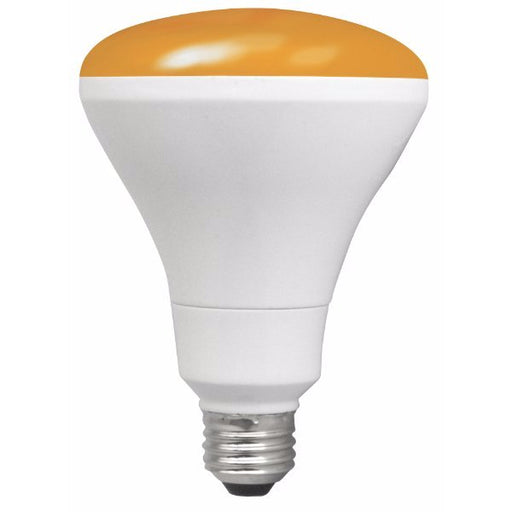 TCP 12 Watt BR30 LED 120V 850 Lumen 82 CRI Medium (E26) Base Amber Shatter Resistant Dimmable Bulb (LED12BR30DAMB)