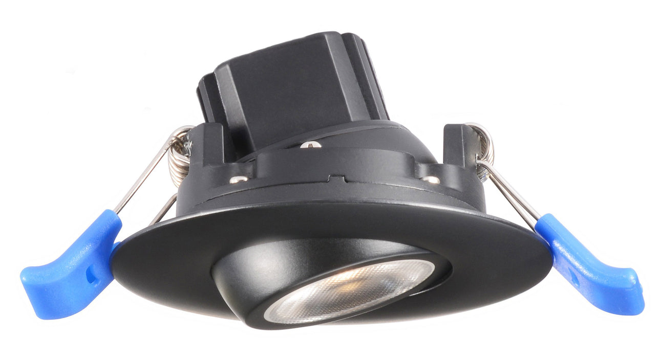 Lotus LED LightS Gimbal 2 Inch Round 5W LED 3000K Black 24 DEG 400 Lumens Type IC Wet ES CRI 92 (LL2G-30K-BK)