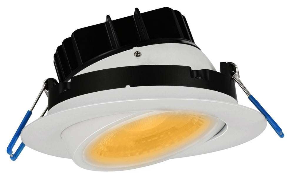 Lotus LED LightS Gimbal 4 Inch Round 11.4W LED 3000K White 38 DEG 1000 Lumens Type IC Wet ES CRI 92 (LL4G-30K-WH)