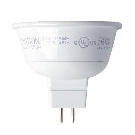 TCP 7 Watt MR16 LED 3000K 12V 500 Lumen 80 CRI Bipin (GU5.3) Base Dimmable Shatter Resistant Flood Bulb (LED712VMR16V30KFL)