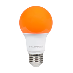Sylvania 8.5 Watt A19 LED 120V Medium (E26) Base Orange Bulb (LED8.5A19ORANGE10YVBL)