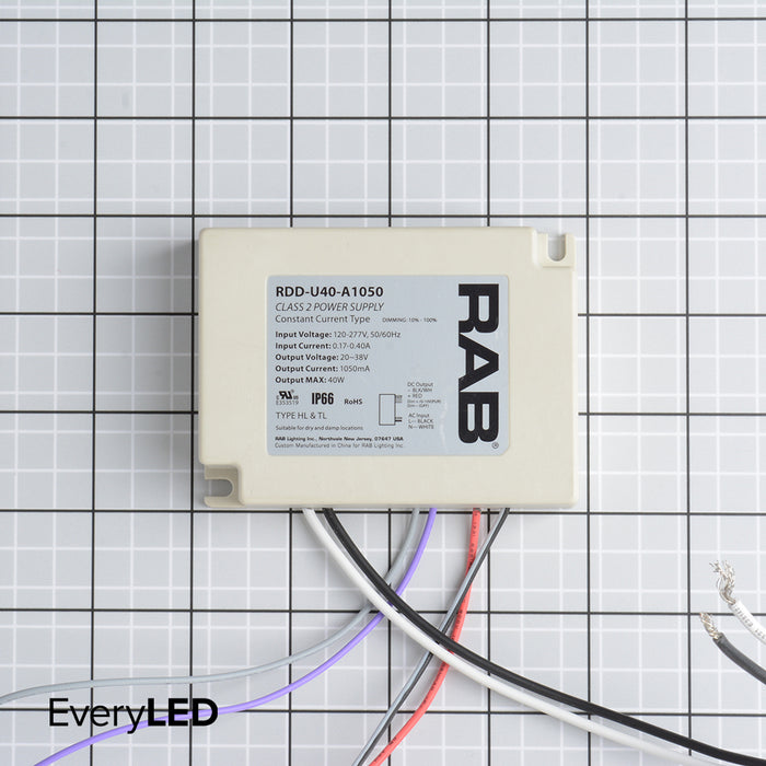 RAB Driver 40W 38V 120-277V 1050Ma Dimmable 50/60Hz 69188 (RDD-U40-A1050)