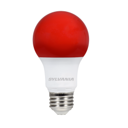Sylvania 8.5 Watt A19 LED 120V Medium (E26) Base Red Bulb (LED8.5A19RED10YVBL)