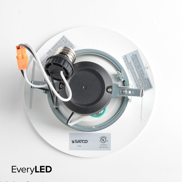SATCO/NUVO 9W LED Directional Retrofit Downlight-Gimbaled 5 Inch-6 Inch 2700K 120V Dimmable White Finish (S39472)