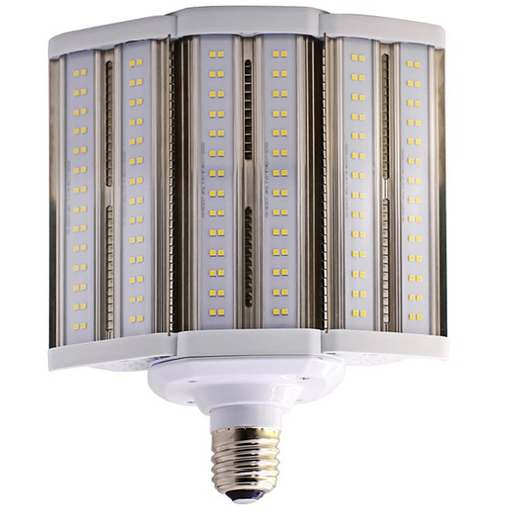 Satco S8932 80 Watt Corn Cob LED 5000K 100V-277V 10000 Lumen 85 CRI Mogul (E39) Base SHOEBOX Retrofit Bulb - Enclosed Fixtures (80W/LED/HID/SB/5K/E39/100-277V)