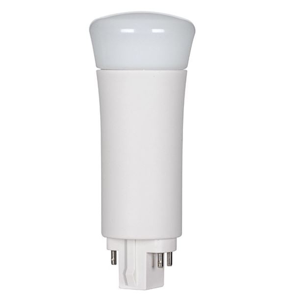 SATCO/NUVO 9WPLV/LED/840/DR/4P 9W LED PL 4-Pin 4000K 1000 Lumens G24Q Base 50000 Average Rated Hours 120 Degree Beam Spread Type A Ballast Dependent (S29860)
