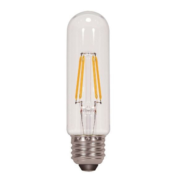 SATCO/NUVO 4.5T10/LED/E26/40K/120V 4.5W T10 LED Clear Medium Base 4000K 450 Lumens 120V (S8841)