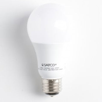 SATCO/NUVO 3/9/12A19/3WAY LED/2700K/120V 3/9/12W A19 LED 3-Way Frosted 2700K Medium Base 220 Degree Beam Spread 120V (S9316)