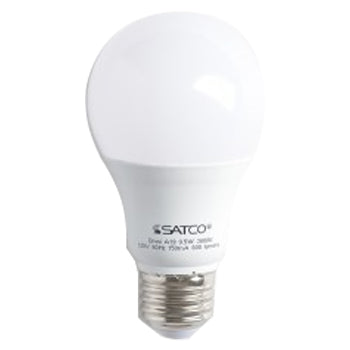 SATCO/NUVO 9.5A19/LED/3000K/120V 9.5W A19 LED Frosted 3000K Medium Base 220 Degree Beam Spread 120V Non-Dimmable (S9594)