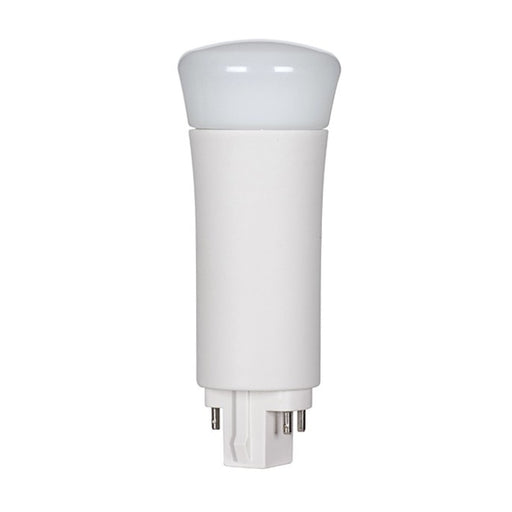 Satco S9859 9W LED PL 4-PIN 3500K 850 Lumens G24Q Base 50000 Average Rated Hours 120 Degree Beam Spread (9WPLV/LED/835/DR/4P)