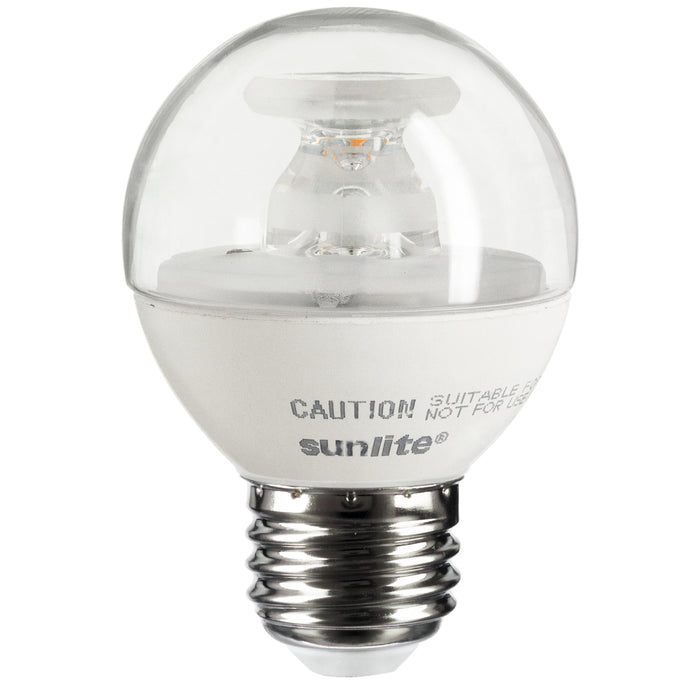 Sunlite G16/LED/5W/E26/D/CL/E/27K LED 2700K 120V 5 Watts 350 Lumens Globe G16 Medium (E26) Dimmable (80518-SU)