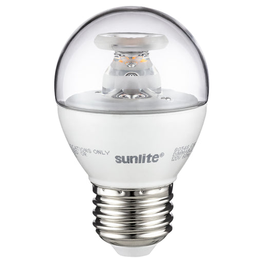 Sunlite G16/LED/7W/D/E26/CL/ES/27K Sunlite LED 2700K 120V 7 Watts 500 Lumens Globe G16 Medium (E26) Dimmable (80548-SU)