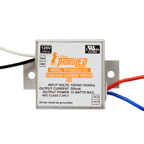 Fulham 20V-46V 15 Watt 350mA LED Constant Current Driver 120V Input (TC11200350-15C)