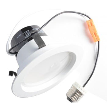 "TCP 10 Watt 3000K Medium (E26) Base Dimmable 4"" LED Downlight (LED10DR430K)"