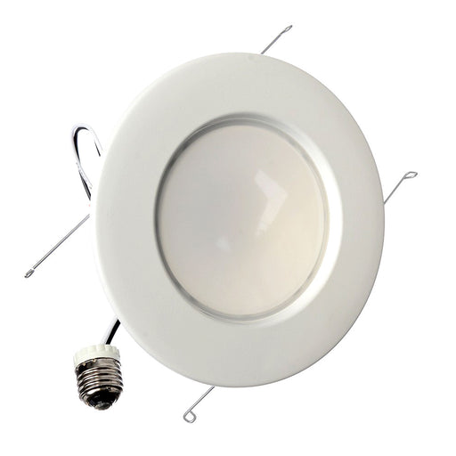 "TCP 14 Watt LED 2700K 120V 1250 Lumen 82 CRI Medium (E26) Base White Dimmable 6"" Downlight Retrofit (LED14DR5627K)"