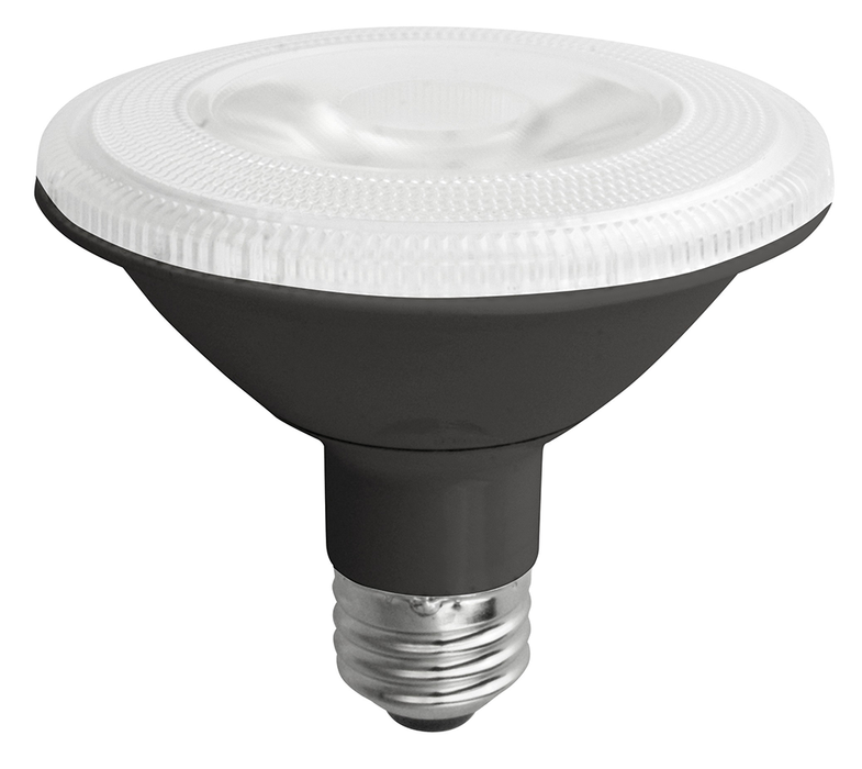 TCP LED 12 Watt PAR30 Short Neck Dimmable 3500K Flood Black (LED12P30SD35KFLB)