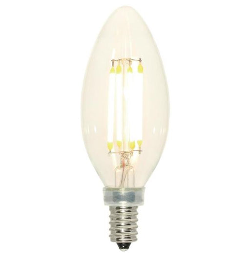 Westinghouse 4.5W B11 Filament LED Dimmable 2700K E12 (Candelabra) Base - 120 Volt - Box (4316800)