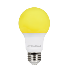 Sylvania 8.5 Watt A19 LED 120V Medium (E26) Base Yellow Bulb (LED8.5A19YELLOW10YVBL)