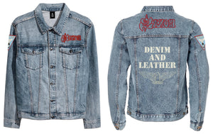 Denim and Leather Denim Jacket