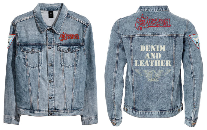 Sale - Denim and Leather Denim Jacket