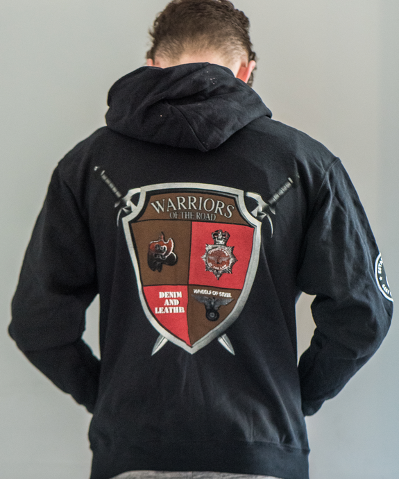 Warriors of The Road Zip Hoodie