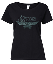 Load image into Gallery viewer, LAST CHANCE - 40th Anniversary Ladies T Shirt - Celebrating 40 Years of Saxon