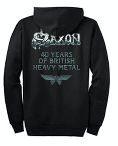 40th Anniversary Zip Hoodie - Celebrating 40 Years of Saxon