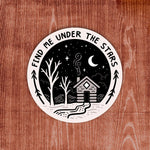 Cabin in Woods Sticker