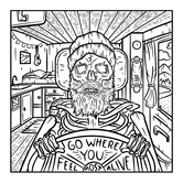 Go Where You Feel Most Alive - Coloring Page