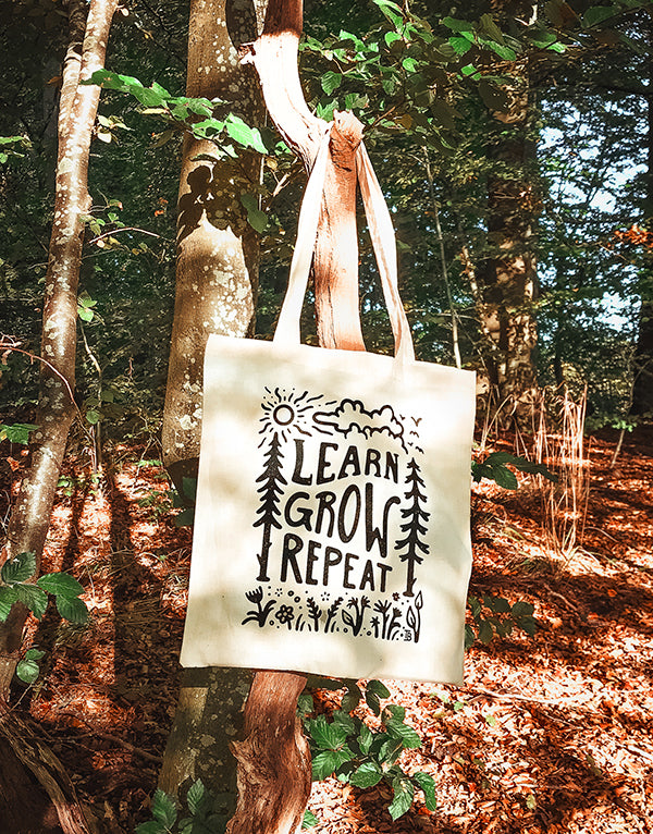 Learn Grow Repeat - Tote Bag