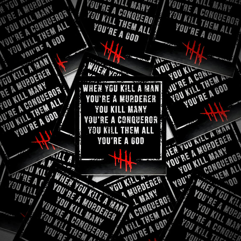Killer Man Sticker