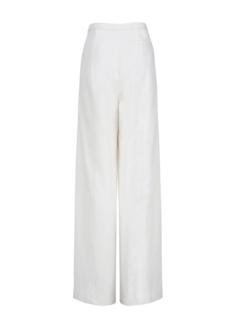STITCHED PANTS WHITE