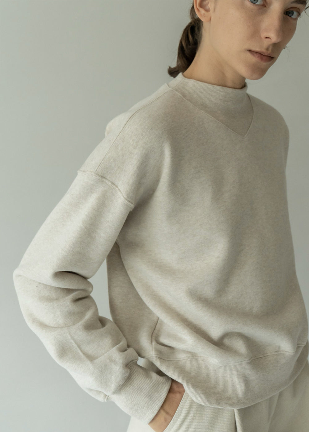 LOOSEFIT SWEATSHIRT OATMEAL
