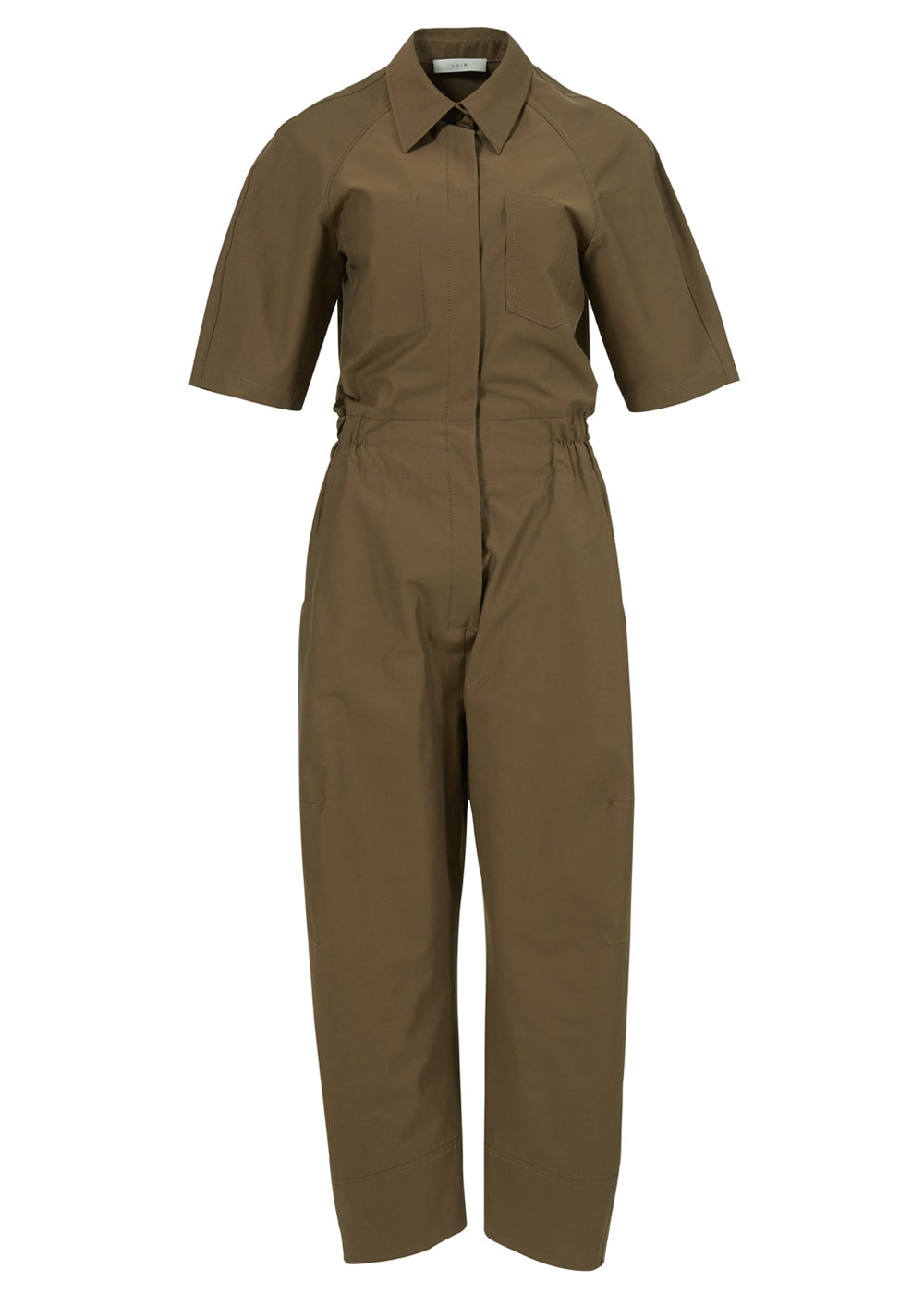 JOGGERFIT COTTON JUMPSUIT KHAKI