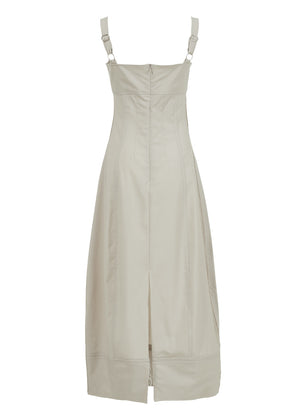 NATURAL CUTTING STITCH DRESS LIGHT BEIGE