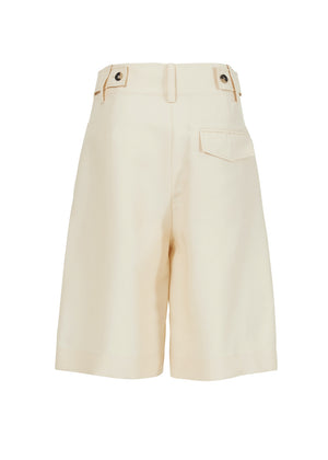 SILK HALF PANTS CREAM