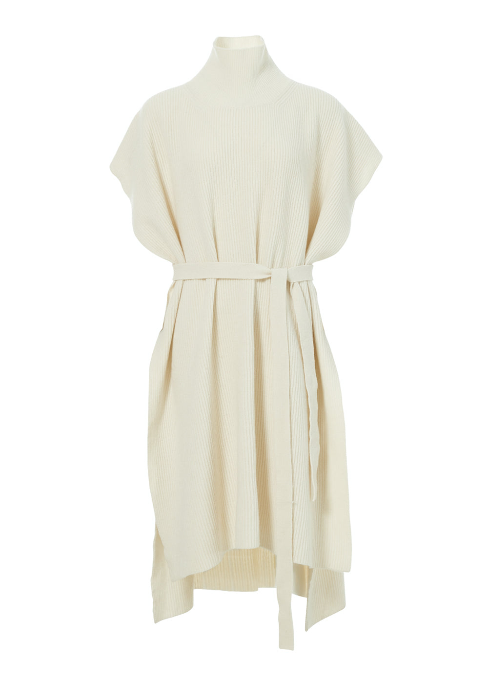 CASHMERE TURTLENECK CAPE IVORY