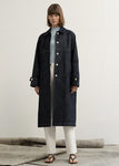 DENIM STITCH TRENCH COAT