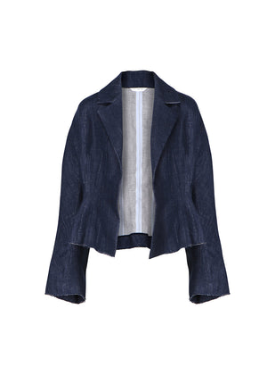 SLIM-FIT SHORT JACKET NAVY