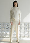 RACCOON SLIT HALFNECK SWEATER IVORY
