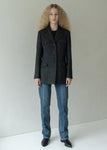 WOOL POCKET HALF JACKET BLACK