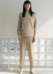 RACCOON SLIT HALFNECK SWEATER BEIGE