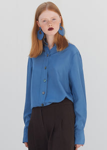 SILK STANDARD SHIRT BLUE