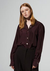 SILK STANDARD SHIRT BROWN