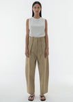 COTTON SEMI JOGGER PANTS BEIGE