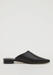 LEATHER MULE BLACK