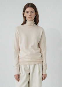LE MODERN WOOL TURTLENECK KNIT IVORY