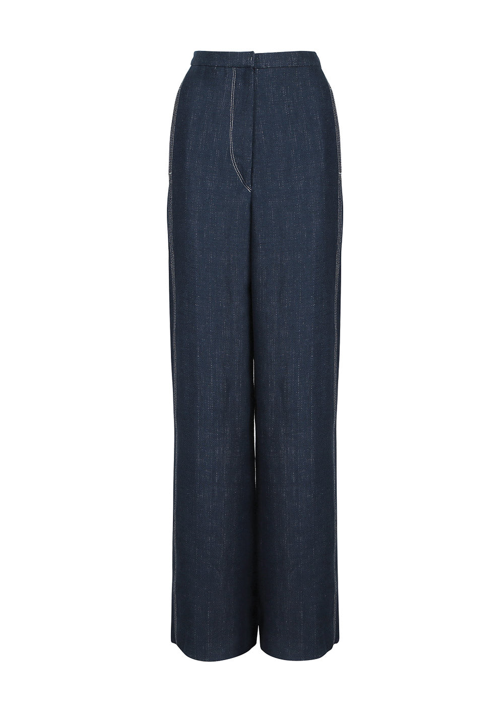 STITCHED PANTS NAVY