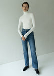 SLIM TURTLENECK T SHIRT IVORY
